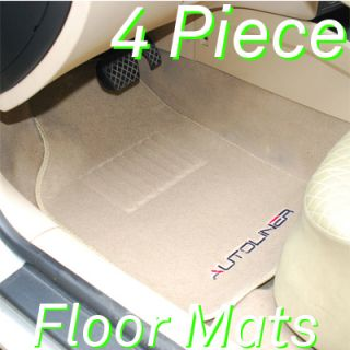 Autoliner 4pc Heavy Carpet Floor Mats with Ford Tan