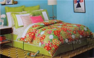 Kate Spade Garden Grove 4pc King Fitted Flat Sheets Pillowcases Green