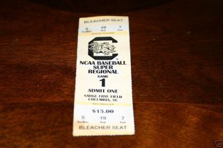 South Carolina Gamecocks Super Regional Baseball Stub