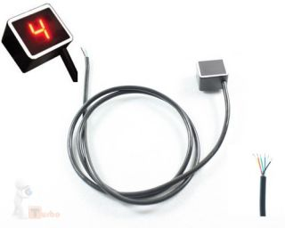 Red Universal Digital Gear Indicator for Motorcycle New
