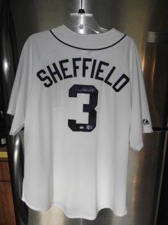 Gary Sheffield Signed Autographed Detroit Tigers Baseball Jersey