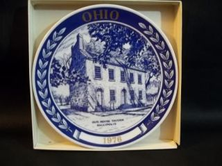 Blue Chateau Ohio Collectable Plate Our House Tavern Gallipolis