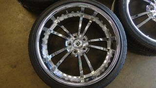 NEW 21 CAMARO RS FORTUNE ALLOY FS5 STAGGERED CHROME WHEELS & TIRES