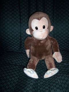 16 plush Curious George Stuffed Monkey brown Russ applause toy