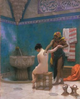 Jean Leon Gerome The Bath Canvas Lady Given Bath Canvas