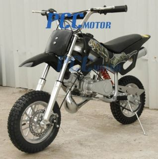 BRAND NEW 49CC 50CC 2 STROKE GAS MOTOR MINI DIRT PIT POCKET BIKE BLACK