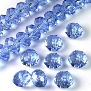 Beautiful 6mm Blue Crystal Gemstone Loose Bead 72pc Swarovski