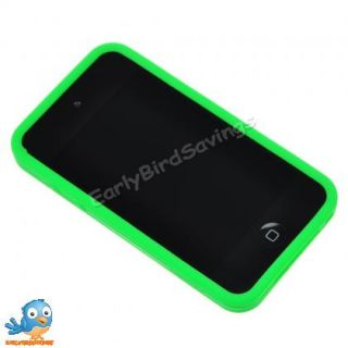 Green Game Boy Style Silicone Case Cover Skin for iPod Touch 4