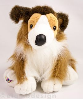 Ganz Webkinz Collie Puppy plush stuffed animal pup dog brown white No
