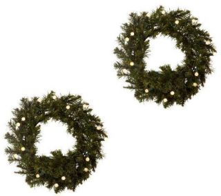 Bethlehem Lights Solutions Batteryoperated Set of TWO16 Wreaths w