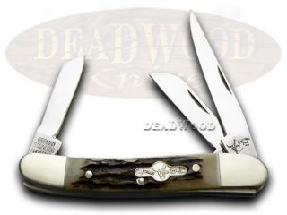 German Bull Deer Stag Stockman Pocket Knife Knives