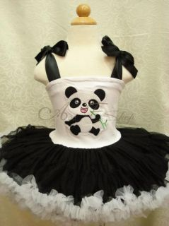 Halloween Panda Girls Kids Party Costume Dance Fancy Tutu Dress
