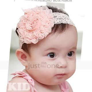 Baby Girls Toddler Lace Hair Accessories Flowers Headband