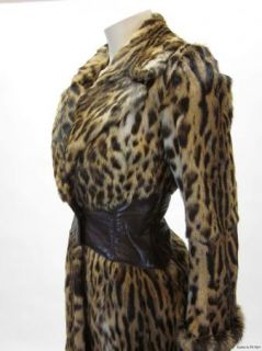 Giuliana Teso Luxurious leopard printed fur shapes this stylish coat