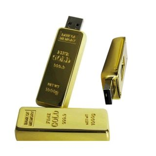 Hot 128GB Gold Bar USB 2 0 Flash Memory Drive Stick Pen Thumb