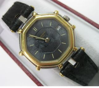 Gerald Genta Geneve Quartz 18K Stainless Steel Watch