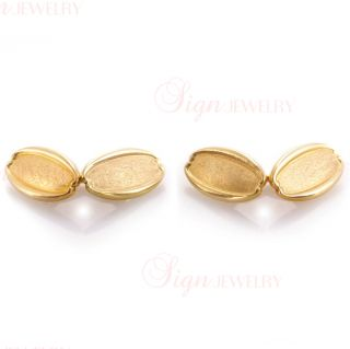 Tiffany Co Art Deco 18K Yellow Gold Cufflinks
