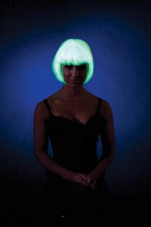 Glow in The Dark Bob Costume Wig Adult New
