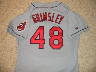 1994 Jason Grimsley Game Used Worn Cleveland Indians Jersey Nice Away