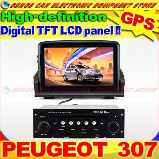 Peugeot 307 Car DVD Player GPS Navigation in Dash Stereo Radio System