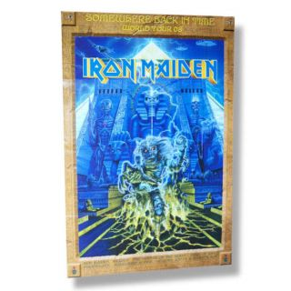 Iron Maiden Somewhere 2008 Tour Poster Program RARE New