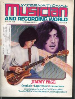 Musician Recording World Jimmy Page Greg Lake 2 1982