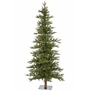 Vickerman Flocked Alpine 5 Artificial Christmas Tree with Clear