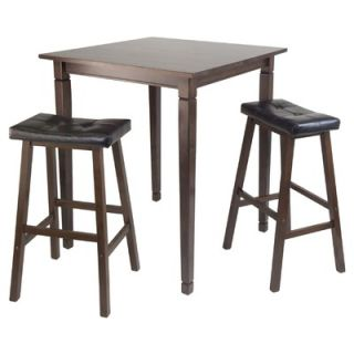 Boraam Florence 3 Piece Pub Table Set in English Tudor