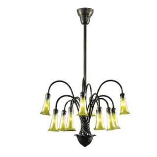 Dale Tiffany Gold Lily 12 Light Chandelier   1704/375