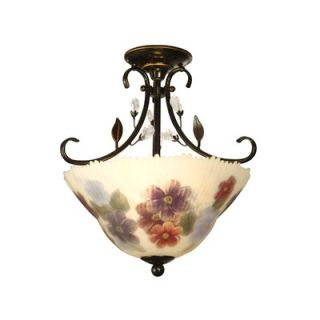 Dale Tiffany 17.5 2 Light Semi Flush Mount
