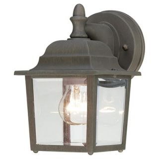 Thomas Lighting Covington 1x60W Outdoor Wall Lantern in Painted Bronze