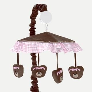 Sweet Jojo Designs Teddy Bear Pink Musical Mobile   Mobile TeddyBear