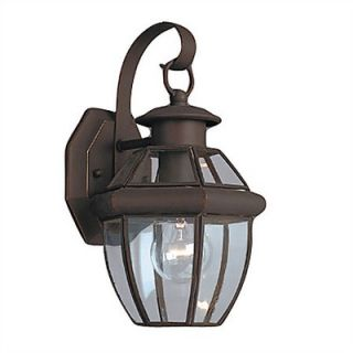 Sea Gull Lighting Classic Outdoor Wall Lantern in Antique Bronze