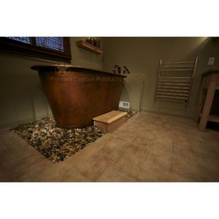 Premier Copper Products 72 Hammered Copper Modern Slipper Style Bath