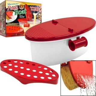 Chef Buddy Microwave Pasta Cooker with Strainer Lid   82 Y3432