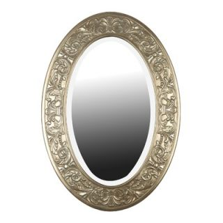 Kenroy Home Argento Oval Wall Mirror in Antique Silver