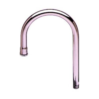 Brass 5.5 Rigid Gooseneck Spout Pot Filler Faucet with Plain Tip