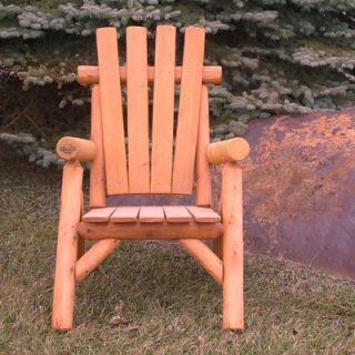 Moon Valley Rustic Cedar Stained Lawn Chair