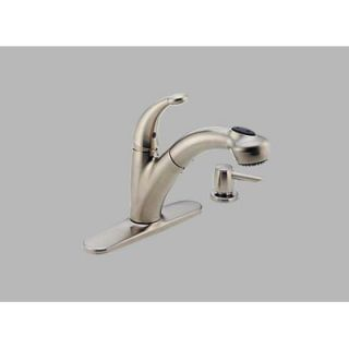 Delta Cicero Single Handle Centerset Pull Out Kitchen Faucet with Soap