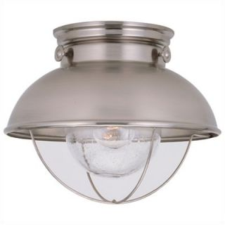 Sea Gull Lighting Sebring Outdoor Flush Mount in Brushed Stainless