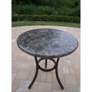 Oakland Living Espresso Stone Top Bistro Table
