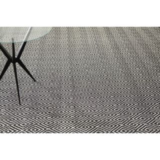 Dash and Albert Rugs Woven Diamond Black/Ivory Rug