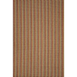 Dash and Albert Rugs Woven Red Zipper Rug