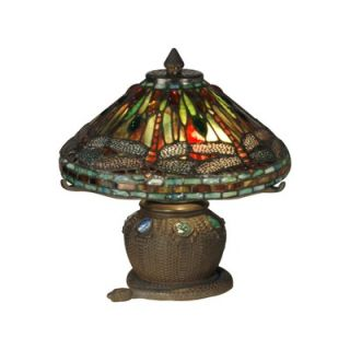 Dale Tiffany Dragonfly Two Light Mini Table Lamp in Antique Bronze