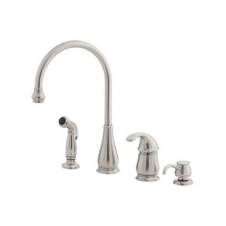 Price Pfister Treviso One Handle Widespread Kitchen Faucet with Side