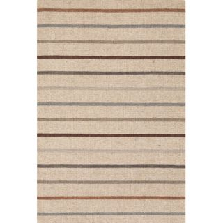 Dash and Albert Rugs Trimaran Light Blue/Ivory Striped Rug   RDP189