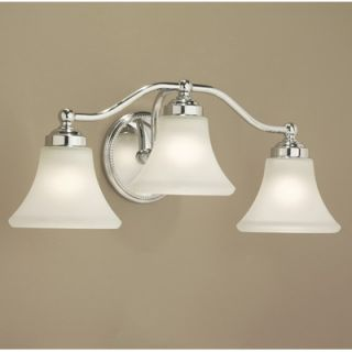 Norwell Lighting Soleil Three Light Bath Vanity   9663 BN FL / 9663
