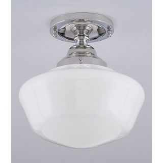 Norwell Lighting Schoolhouse 1 Light Semi Flush Mount   5361F SO
