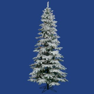Flocked Utica Fir 6.5 Artificial Christmas Tree with Multicolored LED