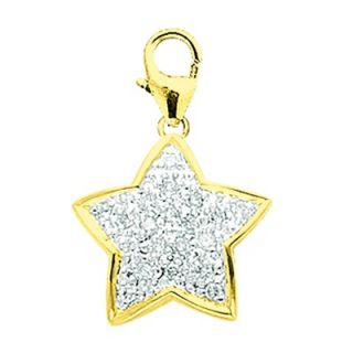 EZ Charms 14K Yellow Gold Diamond Star Charm
